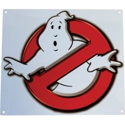 Ghostbusters No Ghosts Logo Metal Sign found on GamingScroll.com from entertainmentearth.com for $15.99