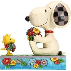 Peanuts Snoopy and Woodstock with Flowers Jim Shore Statue found on Bargain Bro India from entertainmentearth.com for $49.99