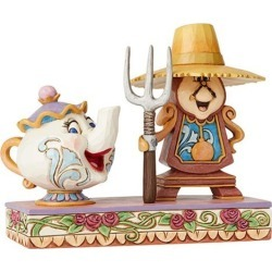 Disney Traditions Cogsworth and Mrs. Potts Jim Shore Statue found on Bargain Bro India from entertainmentearth.com for $49.99