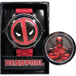 Deadpool Logo Spinner Red Strap Watch found on Bargain Bro India from entertainmentearth.com for $24.99