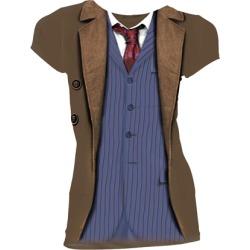 10th Doctor Costume Ladies T Shirt