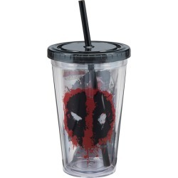 Deadpool 18 oz. Acrylic Travel Cup found on Bargain Bro India from entertainmentearth.com for $9.99