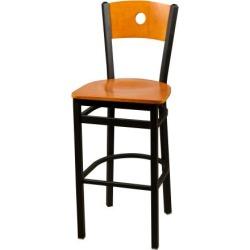 Bull's-eye Cherry Wood Back & Seat Barstool found on Bargain Bro India from eTundra for $102.99