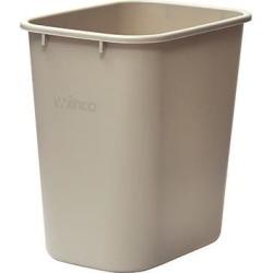28 qt Beige Trash Can