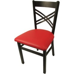 Crossback Chair w/Red Vinyl Seat found on Bargain Bro India from eTundra for $64.99