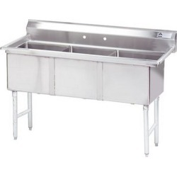 18 in x 18 in x 14 in 3 Compartment Sink w/ No Drainboards found on Bargain Bro Philippines from eTundra for $797.99