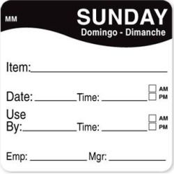 MoveMark 2 in x 2 in Sunday Use By Label found on Bargain Bro India from eTundra for $8.48