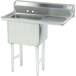 18 in x 18 in x 14 in 1 Compartment Sink w/ Right Drainboard found on Bargain Bro Philippines from eTundra for $372.99
