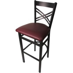 Crossback Barstool w/Wine Vinyl Seat found on Bargain Bro India from eTundra for $94.99