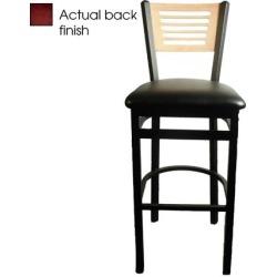 5-Line Mahogany Wood Back Barstool w/Black Vinyl Seat found on Bargain Bro India from eTundra for $102.99