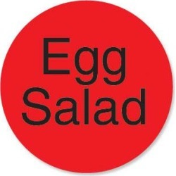 DuraMark 1 in Round Egg Salad Label found on Bargain Bro from eTundra for USD $6.22
