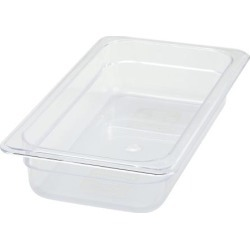Poly-Ware Third Size 2 1/2 in Deep Food Pan