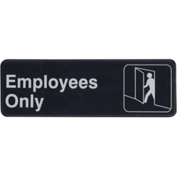 3 in x 9 in Employees Only Sign found on Bargain Bro India from eTundra for $2.99