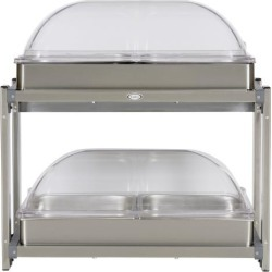Multi Level Buffet Server With Clear Rolltop Lids