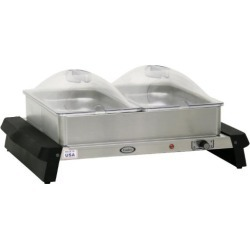 Double Buffet Server with Clear Lids
