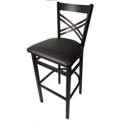 Crossback Barstool w/Espresso Vinyl Seat found on Bargain Bro India from eTundra for $93.99