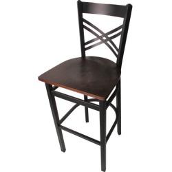 Crossback Barstool w/Walnut Wood Seat found on Bargain Bro India from eTundra for $94.99