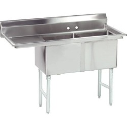 18 in x 18 in x 14 in 2 Compartment Sink w/ Right Drainboard found on Bargain Bro Philippines from eTundra for $944.99