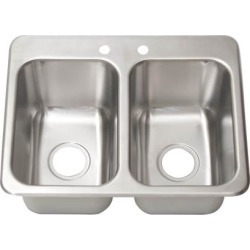 14 in x 10 in 2-Compartment Drop-In Sink found on Bargain Bro Philippines from eTundra for $212.96