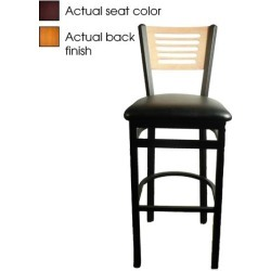 5-Line Cherry Wood Back Barstool w/Wine Vinyl Seat found on Bargain Bro India from eTundra for $102.99