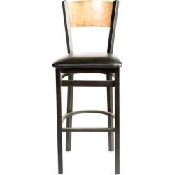 Plain Cherry Wood Back Barstool w/Black Vinyl Seat found on Bargain Bro India from eTundra for $102.99