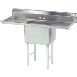 18 in x 18 in x 14 in 1 Compartment Sink w/ Left and Right Drainboards found on Bargain Bro Philippines from eTundra for $687.99