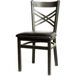 Crossback Chair w/Black Vinyl Seat found on Bargain Bro India from eTundra for $64.99