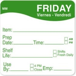 MoveMark 2 in x 2 in Friday Shelf Life Label found on Bargain Bro India from eTundra for $8.53