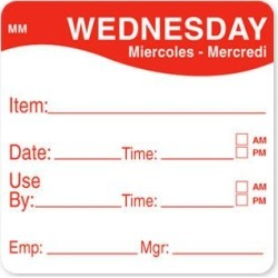 MoveMark 2 in x 2 in Wednesday Use By Label found on Bargain Bro India from eTundra for $8.48
