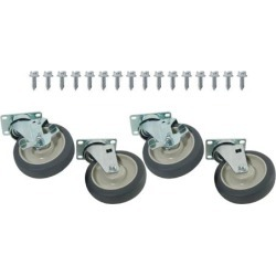 1000lb Capacity Heavy Duty Swivel Plate Caster Set with 5 in Wheels found on Bargain Bro India from eTundra for $81.82