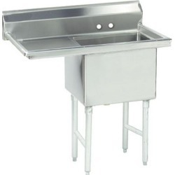 18 in x 24 in x 14 in 1 Compartment Sink w/ Left Drainboard found on Bargain Bro Philippines from eTundra for $740.99