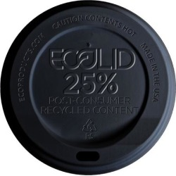 10-20 oz Black EcoLid® 25% Recycled Content Hot Cup Lids found on Bargain Bro India from eTundra for $73.82