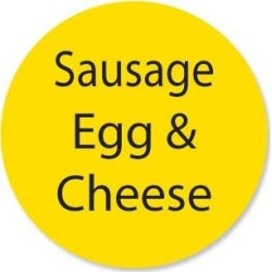 DuraMark 1 in Round Sausage Egg and Cheese Label found on Bargain Bro from eTundra for USD $4.71