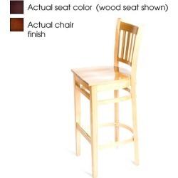 Verticalback Walnut Wood Barstool w/Wine Vinyl Seat found on Bargain Bro India from eTundra for $122.99