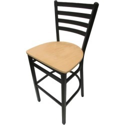 Extra-Large Ladderback Barstool w/Natural Wood Seat found on Bargain Bro India from eTundra for $104.99