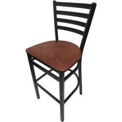 Extra-Large Ladderback Barstool w/Walnut Wood Seat found on Bargain Bro India from eTundra for $104.99