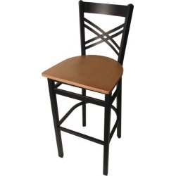 Crossback Barstool w/Natural Wood Seat found on Bargain Bro India from eTundra for $94.99