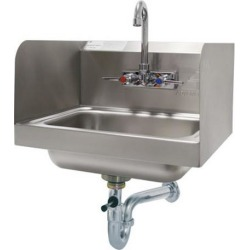 14 in x 10 in x 5 in Hand Sink w/ Side Splashes and Lever Drain found on Bargain Bro Philippines from eTundra for $583.20