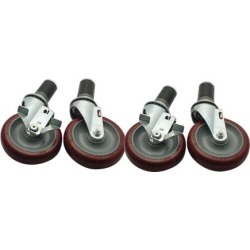 Heavy Duty 1 5/8 in Expanding Stem Caster Set with 5 in Wheels found on Bargain Bro from eTundra for USD $99.55