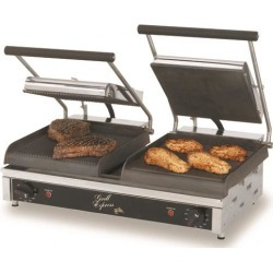 Grill Express™ 20 in Grooved/Smooth Sandwich Grill