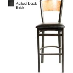 Plain Black Wood Back Barstool w/Black Vinyl Seat found on Bargain Bro India from eTundra for $102.99