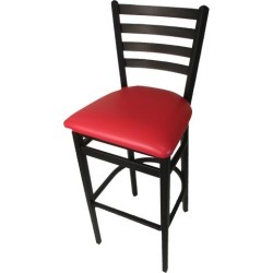 Ladderback Barstool w/Red Vinyl Seat found on Bargain Bro India from eTundra for $93.99