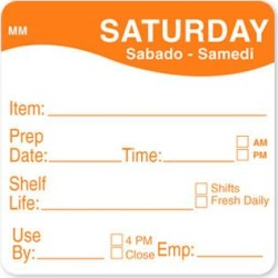 MoveMark 2 in x 2 in Saturday Shelf Life Label found on Bargain Bro India from eTundra for $8.53