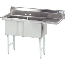 18 in x 24 in x 14 in 2 Compartment Sink w/ Right Drainboard found on Bargain Bro Philippines from eTundra for $1091.99