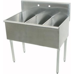 18 in x 21 in x 14 in 3 Compartment Utility Sink found on Bargain Bro Philippines from eTundra for $574.99