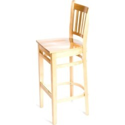 Verticalback Natural All Wood Barstool found on Bargain Bro India from eTundra for $126.99