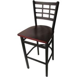 Windowpane Barstool w/Mahogany Wood Seat found on Bargain Bro India from eTundra for $94.99