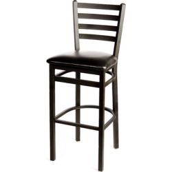 Extra-Large Ladderback Barstool w/Black Vinyl Seat found on Bargain Bro India from eTundra for $111.99