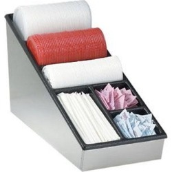 Narrow Countertop Lid, Straw And Condiment Organizer