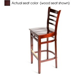 Ladderback Mahogany Wood Barstool w/Wine Vinyl Seat found on Bargain Bro India from eTundra for $122.99